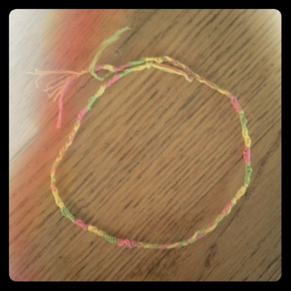 Embroidry thread bracelet